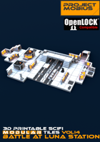3D Printable SciFi OpenLOCK Compatible Tiles for Gaming Vol4