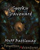 Spooky Graveyard 30x35 Battlemap
