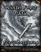 Winter Forest Path 32x22 Battlemap