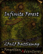 Infinite Forest 25x25 Battlemap