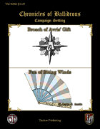 Chronicles of Ballidrous - Magical Items - Broach of Avris' Gift & Fan of Biting Winds