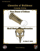 Chronicles of Ballidrous - Magical Items - Bone Bracer of Defense & Skull Mask of Transformation