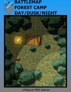Battlemap Forest Camp Day/Dusk/Night