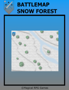 Battlemap Snow Forest