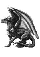 RPG Fantasy Character, Male, Dragon Sketch