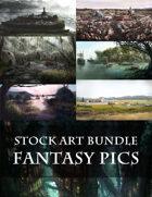 Fantasy Scenes - 8 Fantasy Stock Art Images