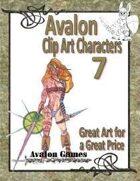 Avalon Clip Art Characters, Warrior Woman 2
