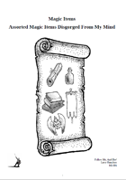 Magic Items: Assorted Magic Items Disgorged From My Mind
