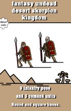 fantasy desert kingdom undead grave guards