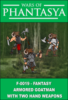 F-0019 - Armoured Goatman With Two Hand Weapons