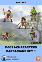 F-0021 - characters Set - Barbarians Set 1