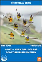 H-0003 - kern Galloglass Scottish Irish Pikemen