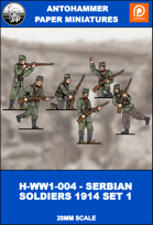 H-WW1-004 - SERBIAN SOLDIERS 1914 SET 1