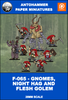 F-0065 - GNOMES, NIGHT HAG AND FLESH GOLEM