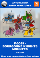 F-0089 - BOURGOGNE KNIGHTS MOUNTED