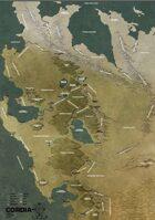 MYTHLANDS RPG Świat Cordia - Wieku Pary i Stali (Mapa)