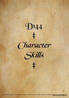 d144 Character Skills