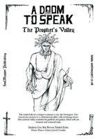 A Doom To Speak: Prophet's Valley