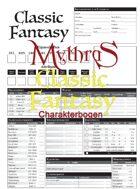 Mythras Classic Fantasy Charakterbogen