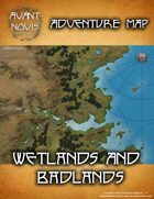 Adventure Map: Wetlands and Badlands