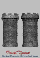 Medieval Scenery - Harbour Fort Tower