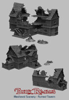 Medieval Scenery - The Ruined Tavern