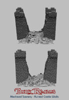 Medieval Scenery - Ruined Castle Walls
