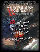 SHOTGLASS ADVENTURES Vol 2 - DIGITAL MAPS PACKAGE