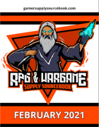 RPG & Wargame Supply Sourcebook February 2021