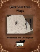 Color Your Own Maps - Wilderness and Countryside