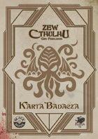 Zew Cthulhu 7ed. - Karta Badacza 1920 Art déco