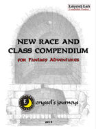 New Race and Class Compendium for Fantasy Adventures