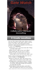 Gate Watch: Collaborative Cinematic Storytelling (Just the Cards!)