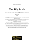 The Dilettante: A Base Class for the First Edition Pathfinder Roleplaying Game