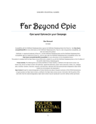 Far Beyond Epic: Epic Level Options for Your Campaign