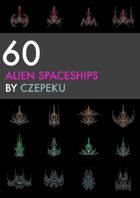 60 Alien Spaceship Icons