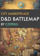 City Marketplace DnD Battlemaps