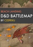 Beach Landing DnD Battlemaps