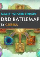 Magic Wizard Library DnD Battlemaps