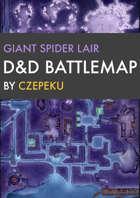 Giant Spider Lair DnD Battlemaps