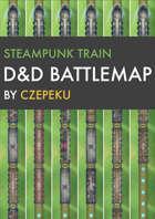 Steampunk Train DnD Battlemaps