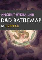 Ancient Hydra Lair DnD Battlemaps