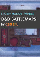 Stately Manor - Winter Collection - DnD Battlemaps