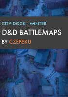 City Dock - Winter Collection - DnD Battlemaps