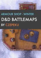 Armor Shop - Winter Collection - DnD Battlemaps