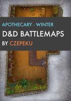 Apothecary - Winter Collection - DnD Battlemaps