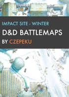 Impact Site - Winter Collection - DnD Battlemaps