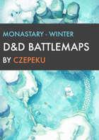 Monastery - Winter Collection - DnD Battlemaps