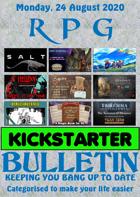 RPG Kickstarter Bulletin 24th August 2020