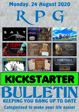RPG Kickstarter Bulletin 24th August 2020